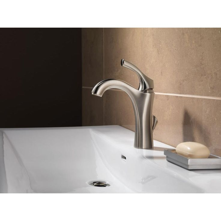 Delta Addison Single Hole Single Handle Bathroom Faucet In Stainless