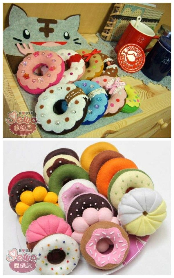 Donas de fieltro yummy! - Felt donnuts
