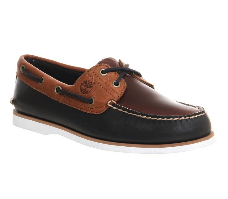 Buy Navy Tan Burgundy Exclusive Timberland Exclusive Boat Shoes from…
