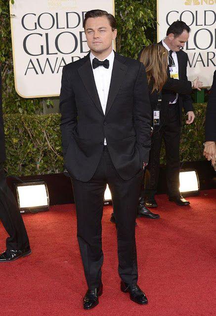 American actor Leonardo DiCaprio during Golden Globe Awards...