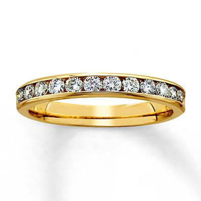This is my Diamond Anniversary Band 1/2 ct tw Round-Cut 14K Yellow Gold