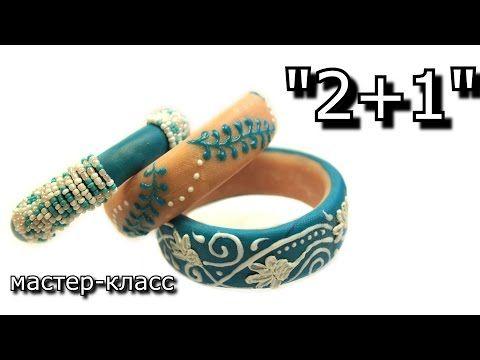 Polymer clay bracelets by Kitsune