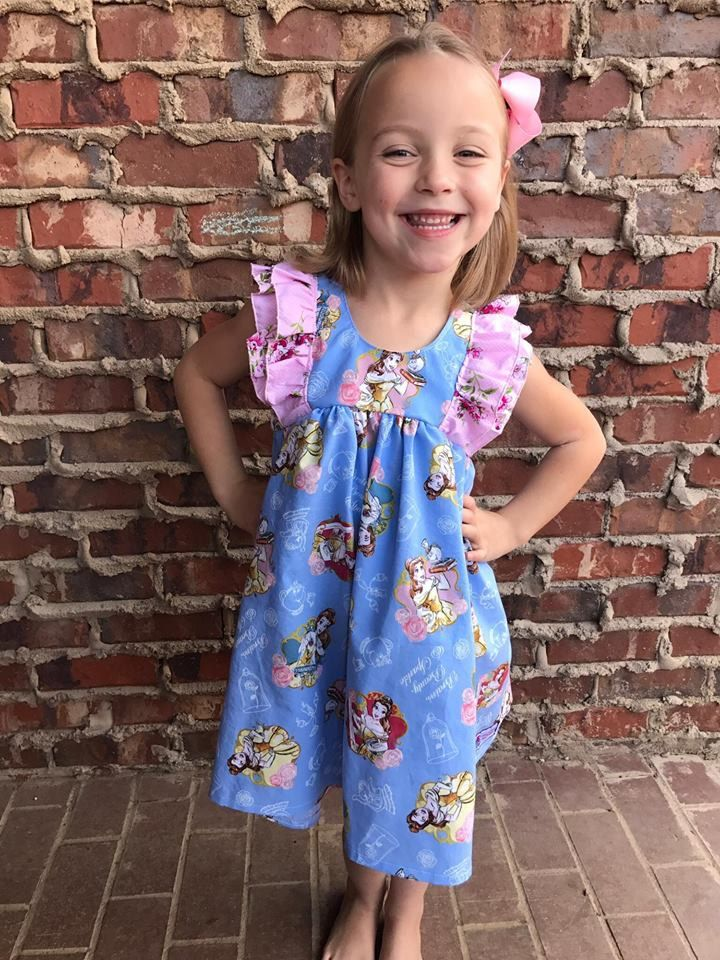 Girls Toddler Disney Princes Belle Double Fluter Clara Floral Frenzy Dress 2T 3T 4T 5T 6 8 by SSBSimplySewBoutique on Etsy