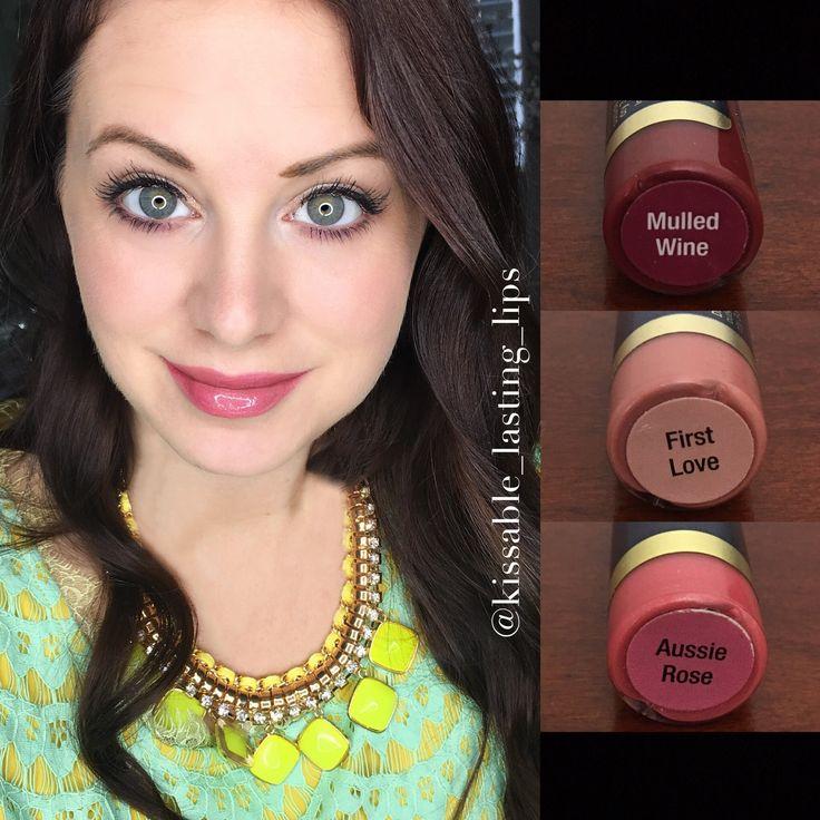 Mulled wine & First Love & Aussie Rose LipSense Colors LipSense