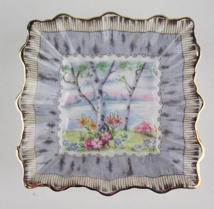 Small Fluted Candy Dish Royal Albert Silver Birch Vintage Bone China England   eBay