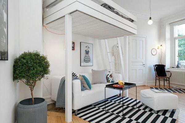 Mejores 41 im genes de loft pisos peque os en pinterest - Decoracion loft pequeno ...