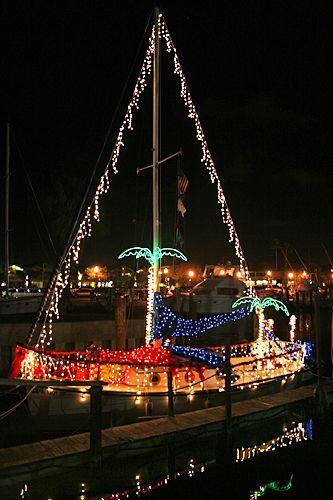 Dunedin Florida Christmas Boat.