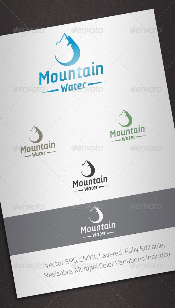 Mountain Water Logo Template — Vector EPS #mineral water #suppliers • Available here → https://graphicriver.net/item/mountain-water-logo-template/2503355?ref=pxcr