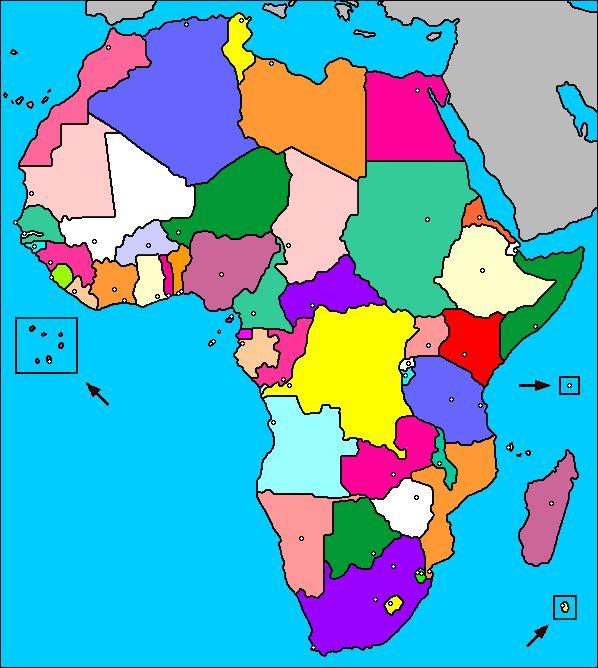 Carte de l'Afrique (pays)