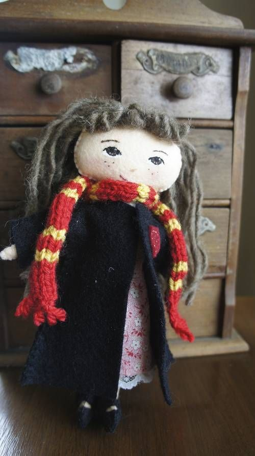 Hermoine Granger doll with her school trunk - TOYS, DOLLS AND PLAYTHINGS - Knitting, sewing, crochet, tutorials, children crafts, papercraft, jewlery, needlework, swaps, cooking and so much more on Craftster.org