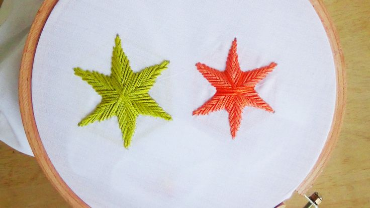 Hand Embroidery: Star Stitch