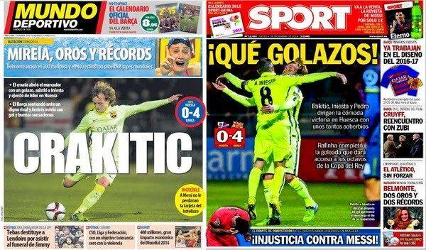 Barcelona Stars : Iniesta Back and sparkling Rakitic