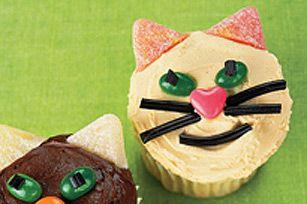 Petits gâteaux chats au beurre d'arachide