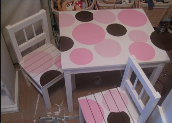 I Think My Granddaughter Would Enjoy This   She Likes Pink And She Likes  Polka Dots. Hand Painted FurnitureChildren ...