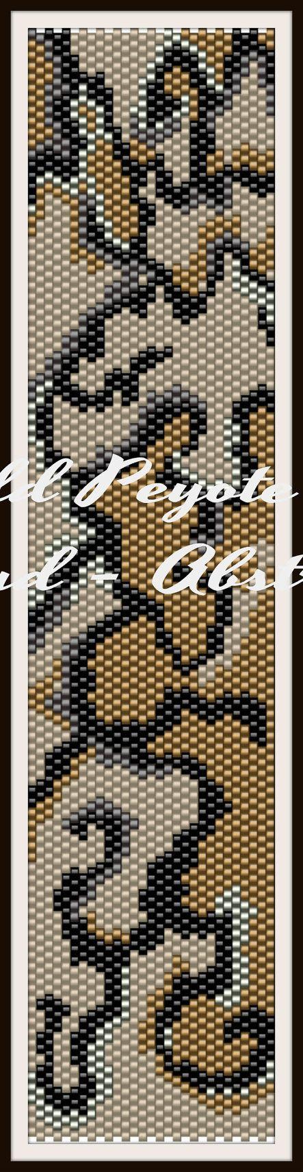 Odd Count Peyote Pattern  Beadwork  Peyote Cuff by BeadscapesbyEs