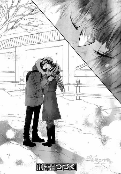 sawako and kazehaya finally kiss love anime kimi ni