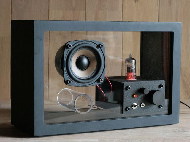 14akr様オーダー品 acrylic speaker Black