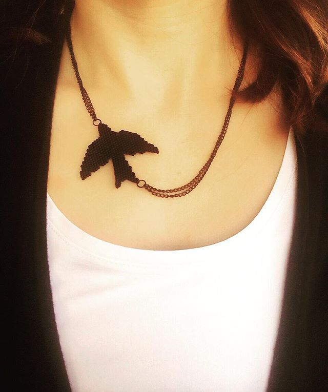 Brick stitch miyuki necklace by atolye_nazo instagram foto