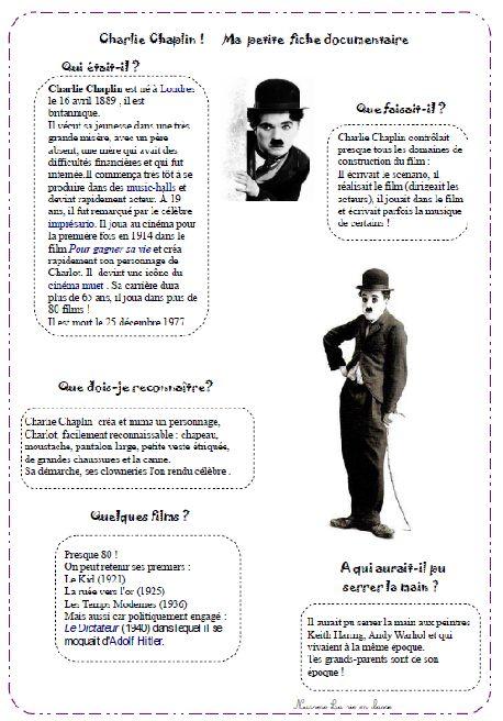 Beaucoup de fiches au sujet de Charlie Chaplin