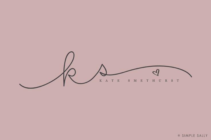 custom made handwritten initials | Simple Sally