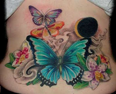 Butterfly and Flower Tattoos | Butterflies And Flowers Tattoos Butterfly