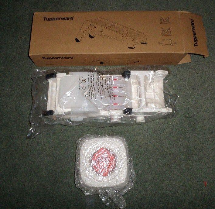 TUPPERWARE MANDOLINE - Slices, Sticks, Diamonds, Waffles; Handy Tool Device, NEW #Tupperware