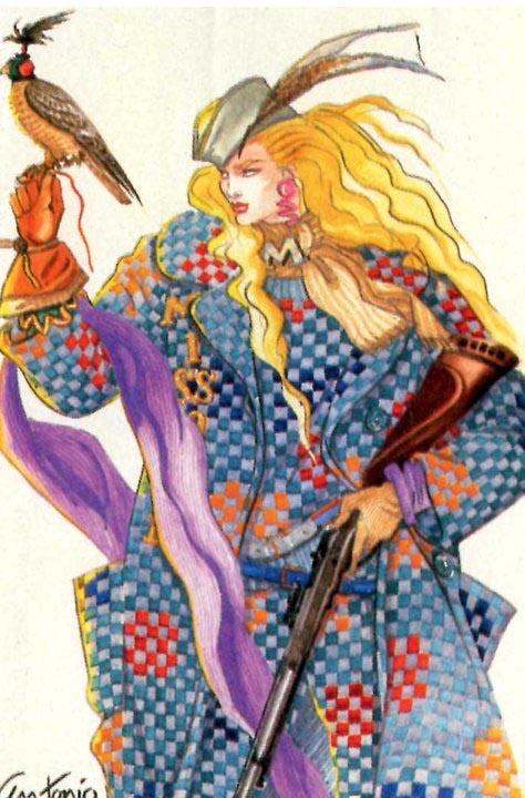 Antonio Lopez  Fashion Illustration  Missoni 1984
