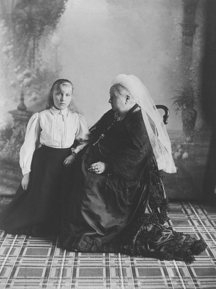 Queen Victoria with Princess Victoria Eugénie of Battenberg, 1897 [in Portraits of Royal Children Vol.43 1896-1897] | Royal Collection Trust