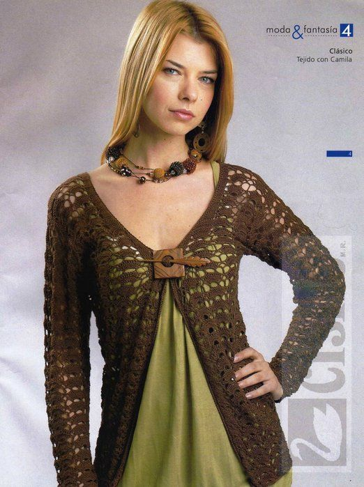 809 best Crochet long sleeves shirts images on Pinterest | Crochet ...