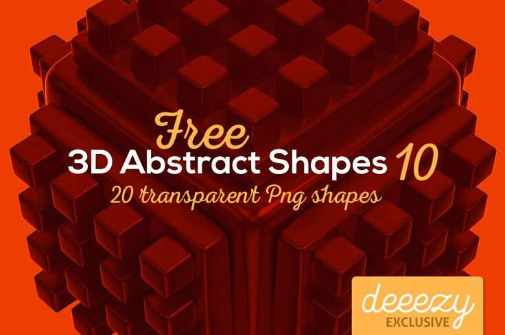 3D Abstract Shapes 10 | Deeezy - Freebies with Extended License