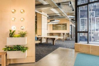 Siren Design worked hard to provide multiple work areas, including standing desks