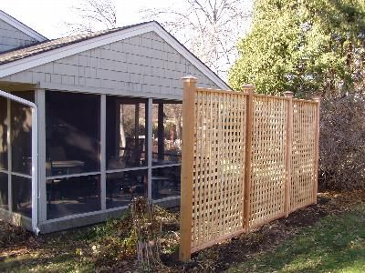 Free Standing Lattice Panels Woodworking Projects Plans