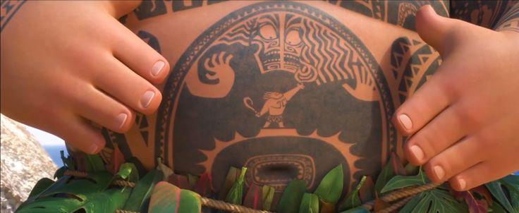 Maui moana dwayne the rock johnson youre welcome song for Moana tattoo ideas