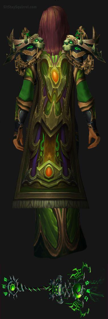 WoW Human Female Destruction Warlock Artifact Transmog. World of Warcraft Set Ideas