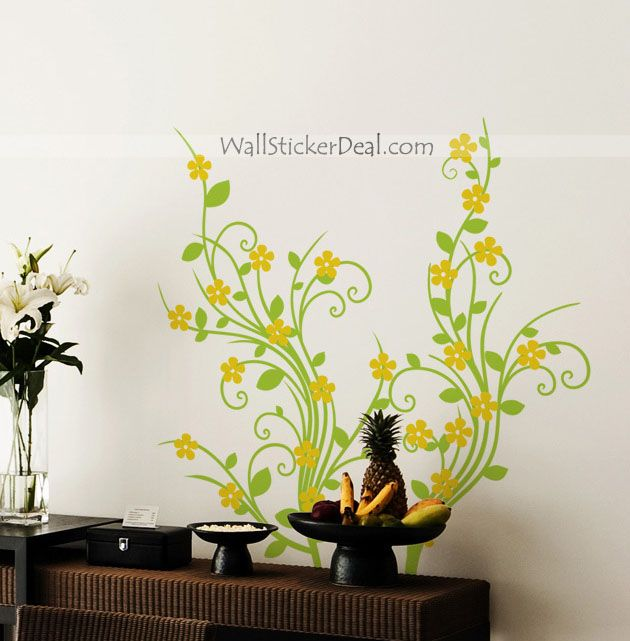 272 best Flower Wall Decals images on Pinterest | Flower wall ...