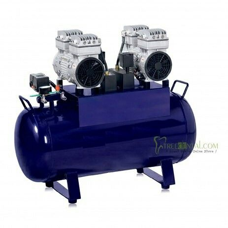 TR-4EW-60 Noiseless Oil Free Dental Air Compressor Support 4 PCS Dental Chair 60L,1680W