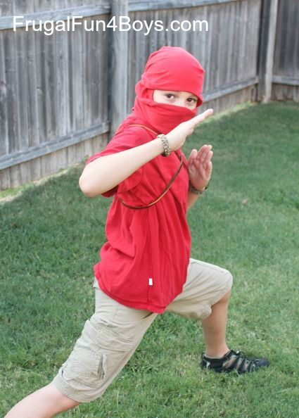 How to Turn a T-Shirt into a Ninja Mask {With no cutting or sewing!}