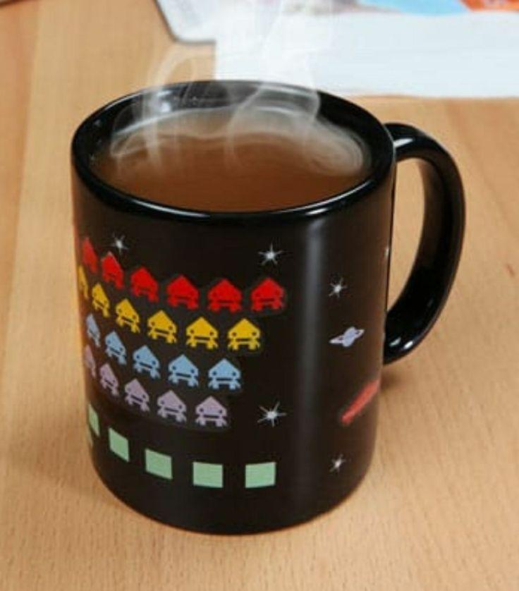 Novelty Heat Sensitive Changing Mug Cup Hot Cold Retro ...