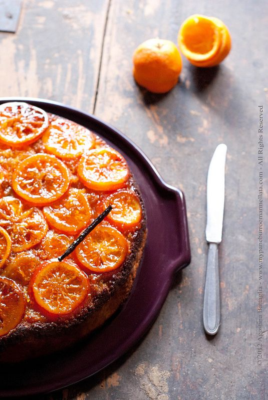 Donna Hay Sticky Orange and Vanilla Upside-down Cake...beautiful!