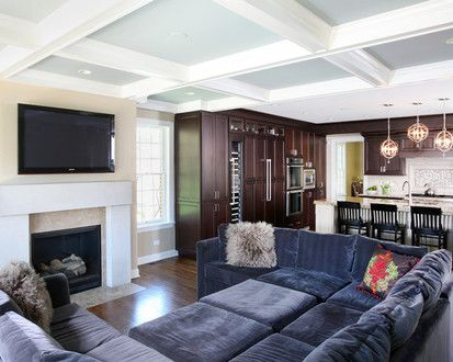 Family Room Open To Kitchen, Traditional Family Room, Chicago