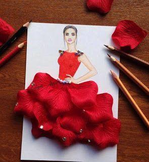 zhannadesignfromart: красное платье