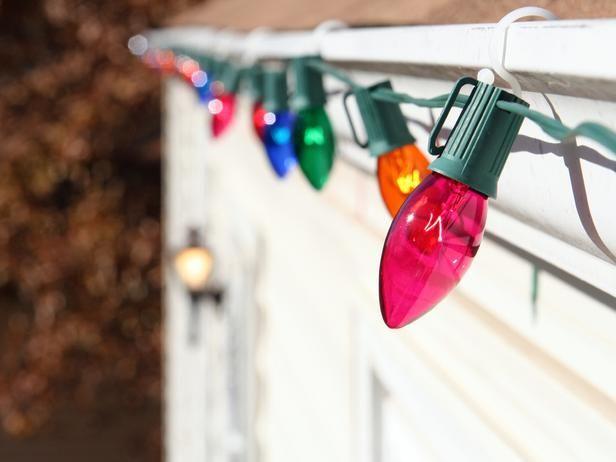 Hanging Outdoor Christmas Lights