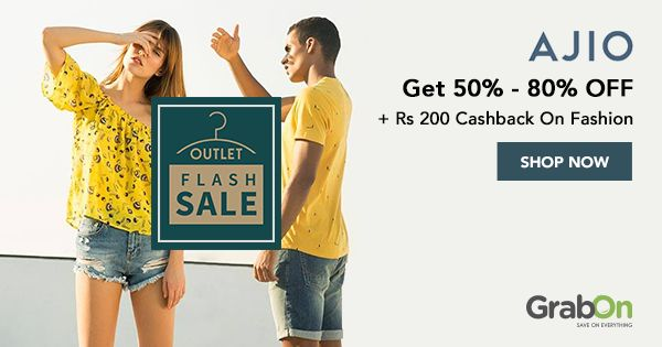 Get HUGE #discounts on the latest #fashion trends at #AJIOLife Flash Sale!   #onlineshopping #sale #offers #today