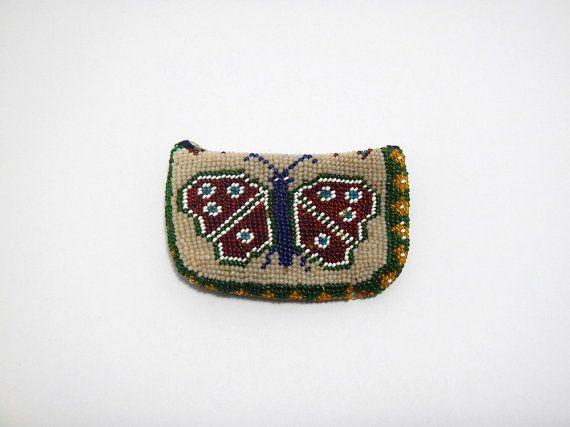 Vintage Beaded Wallet Handmade Prisoners by yesterdaysgaze on Etsy
