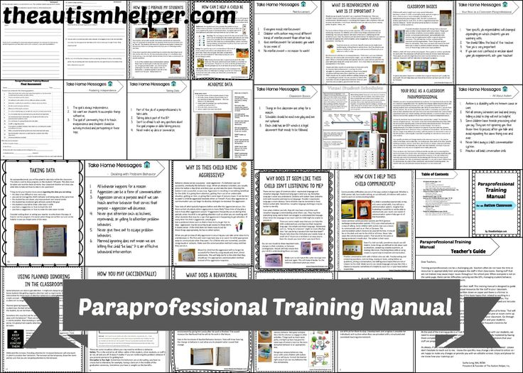 84 best Staff Management for a Special Education Teacher images on - training manual