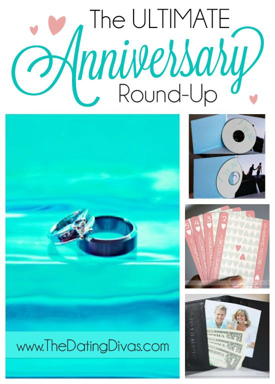This is the Anniversary JACKPOT!  Gift ideas, date ideas, and even quick notes or cards for almost EVERY anniversary milestone! www.TheDatingDivas.com #anniversary #giftideas #romanticgift