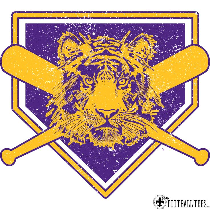 LSU Tigers! Our Tiger Baseball is the perfect shirt for both guys and girls to support your Tigers! www.shopfootballtees.com