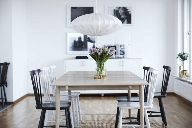 pinnstol ek ~ bord med utdrag  norrgavel 15500  renovering