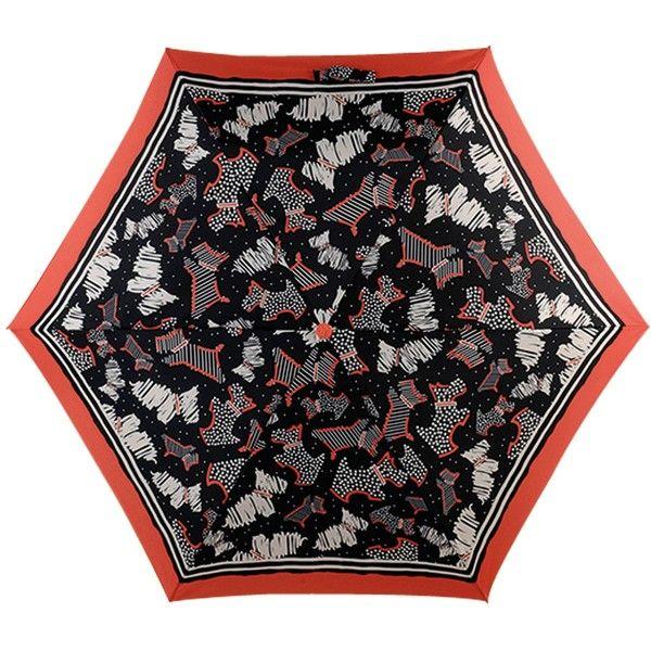 Radley Fleet Street Mini Umbrella, Black/Multi ($28) ❤ liked on Polyvore featuring accessories, umbrellas, dog umbrella, mini umbrella, dog print umbrella, radley and radley umbrella