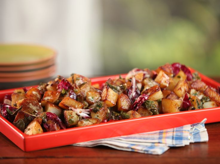Cast-Iron Home Fries with Roasted Green Chiles, Cilantro, Green Onions ...